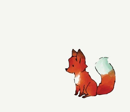 Cute fox uploaded by Alicia on We Heart It