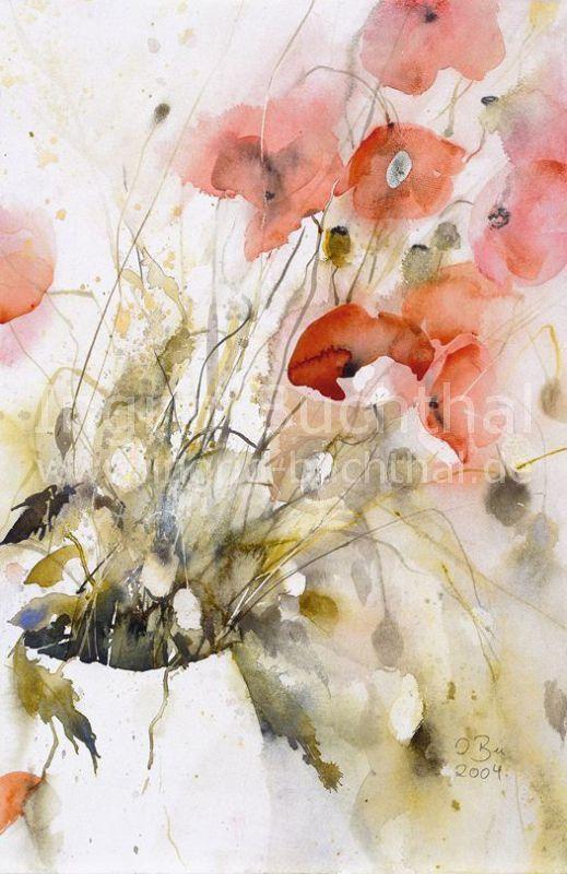 Ingrid Buchthal Karten Mit Bildern Blumen Aquarell Aquarell