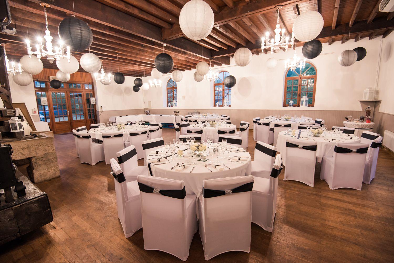 Mariage Noir Blanc Et Argent D Co Salle Lanterne Bois Table