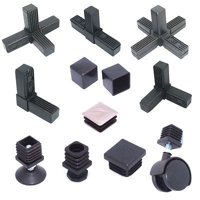 25mm 1 Metal Square Tube Speed Frame Fittings Plastic Joiners Inserts System Ebay Metal Building Designs Steel Frame Construction Metal Box