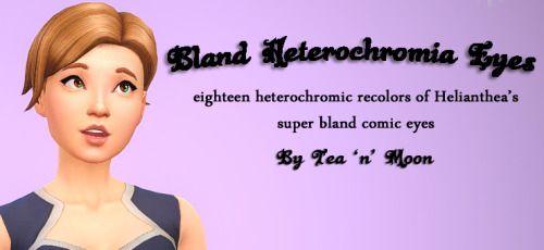 Tea 'n' Moon Sims • Bland Heterochromia Eyes by Tea 'n' Moon This set...
