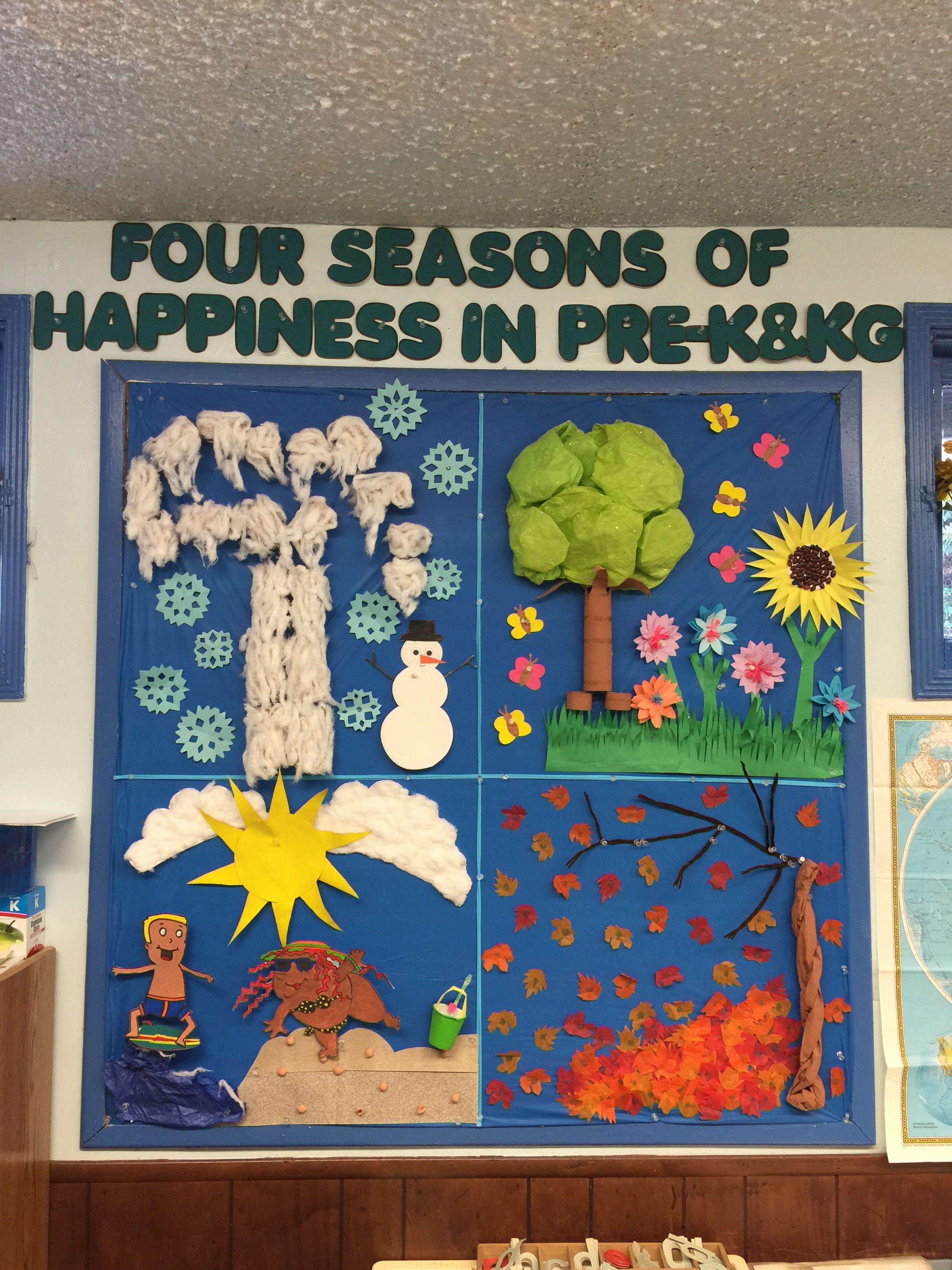 Four Seasons Board Bulletin Board Ideas Pinterest