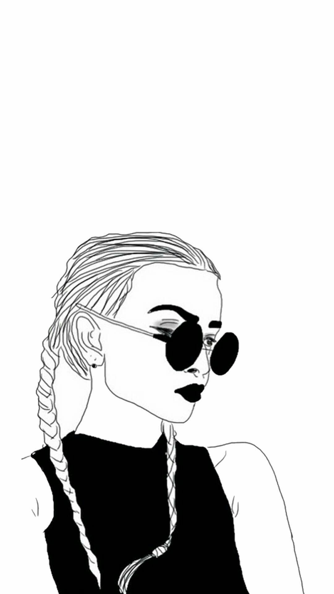 Girl wallpaper iphone sketsa wallpaper sketsa