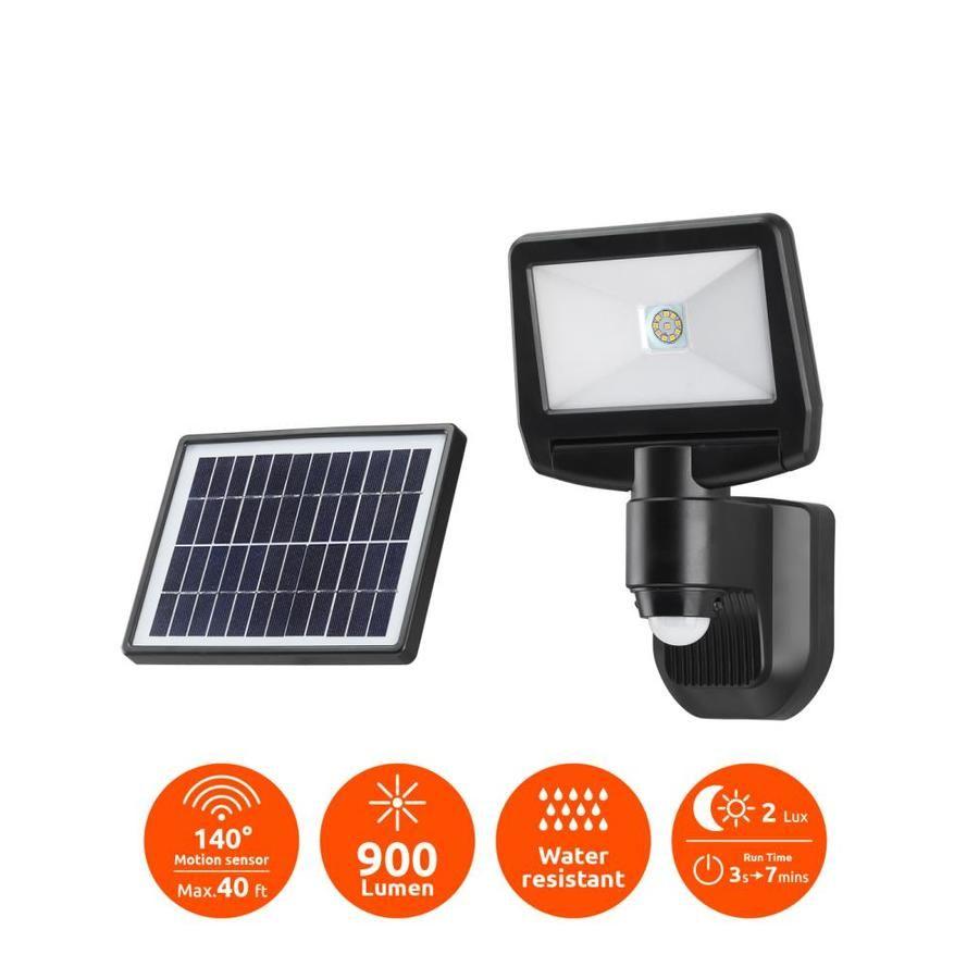 Link2home Solar Outdoor Light 900 Watt Black Low Voltage Solar Led