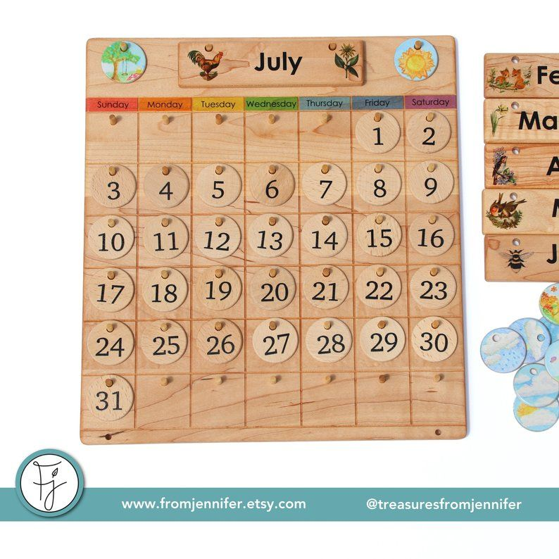 picture about Perpetual Calendar Chart referred to as House Calendar -- Picket Perpetual Calendar -- Temperature Chart