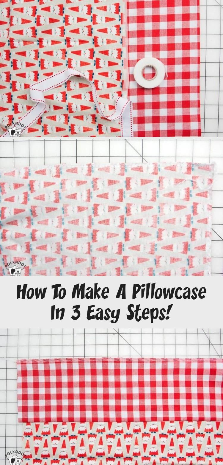 learn a quick and easy way to sew a pillowcase Makes a great gift Lots of ideas for pillowcase gifts including Christmas Pillowcases  how to sew a pillowcase