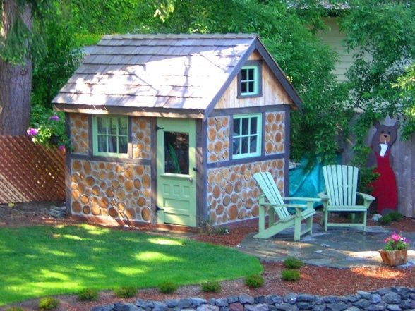 small cottage shed | Little cottage garden shed... How Cute | Garden ...