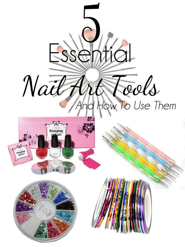 5-Essential-Nail-Art-Tools-And-How-To-Use-Them- | Essentials, Nail ...