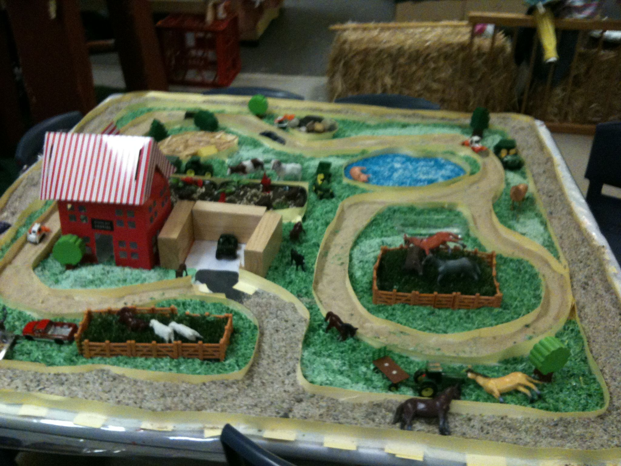 Preschool Farm Animal Sensory Table