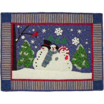 Winter Wonderland Quilt Pattern http://www.victorianaquiltdesigns.com/VictorianaQuilters/PatternPage/WinterWonderland/WinterWonderland.htm #quilting #snowman