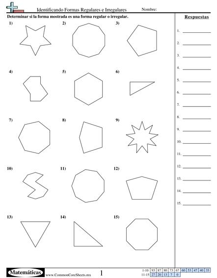 Resultado de imagen para poligonos regulares e irregulares ejercicios