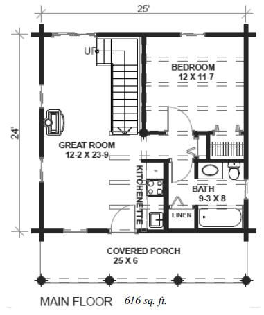Simple Floor Plan Remove Stairs For More Space And Make Bath Wheelchair Accessible Cabin Plans With Loft Log Cabin Floor Plans Log Cabin House Plans