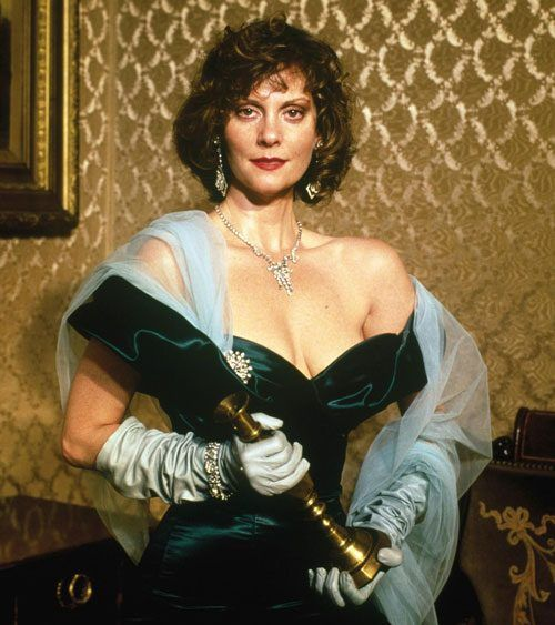 Ms. Scarlet in the Living Room with a Candlestick   Clue costume, Clue movie,  Green movie