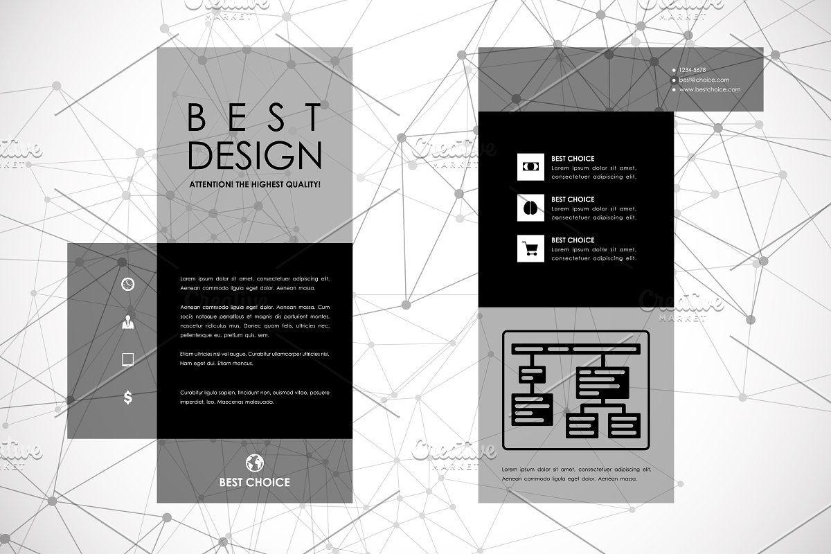 Molecular brochures Brochure template, Poster template