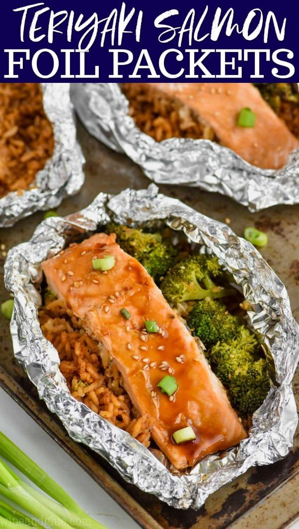 These Teriyaki Salmon Foil Packets come together quickly with just a few simple ingredients. This is a 30 minute meal that your whole family will absolutely love! Making this baked teriyaki salmon in foil makes it moist, tender, and done in a flash. #teriyakisalmon These Teriyaki Salmon Foil Packets come together quickly with just a few simple ingredients. This is a 30 minute meal that your whole family will absolutely love! Making this baked teriyaki salmon in foil makes it moist, tender, a #teriyakisalmon