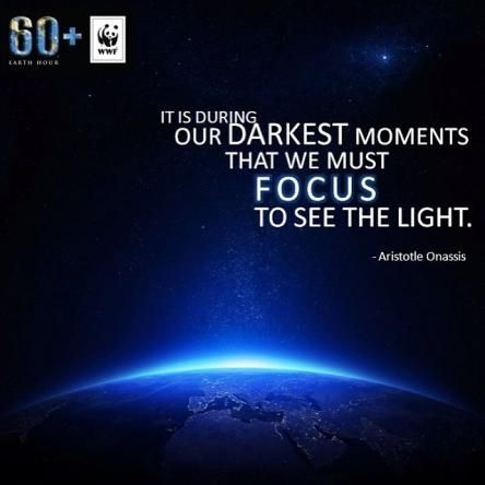 Image result for Earth hour quote