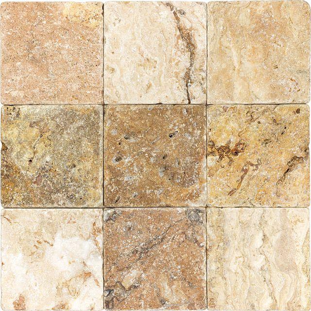 Tumbled Travertine Scabos 4x4 Travertine Stone Mosaic Tile Stone Mosaic