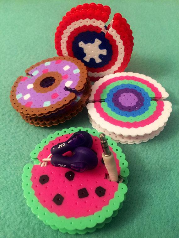 Titulares De 8 Bits Perler Cuentas Auriculares Hamma Beads Ideas