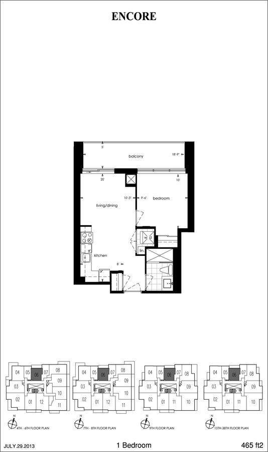 Encore At Equinox Plan 465 465sqft Floor Plans Apartment