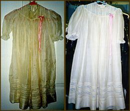 Tips for safely restoring an aged or stained wedding dress for Wedding dress stain removal