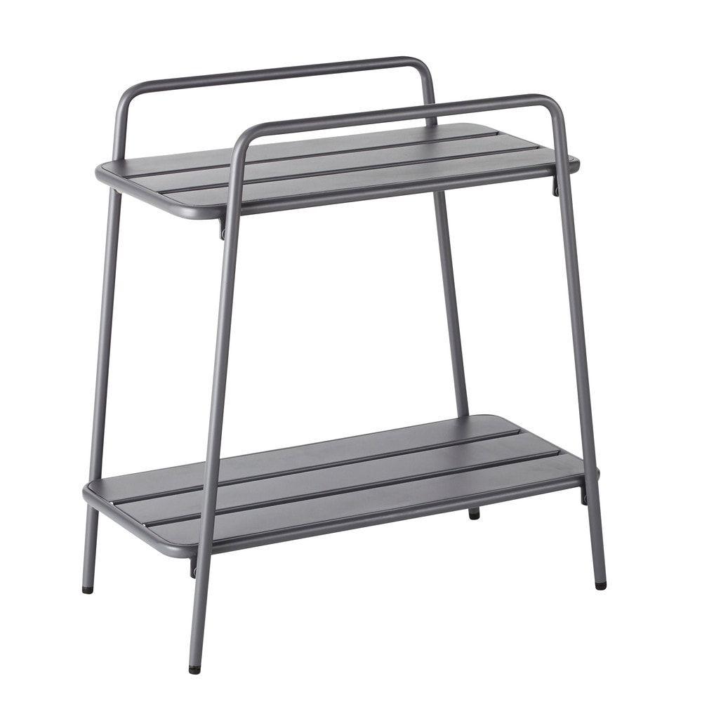 Console De Jardin En Metal Blanc Maisons Du Monde Console Table Furniture White Metal