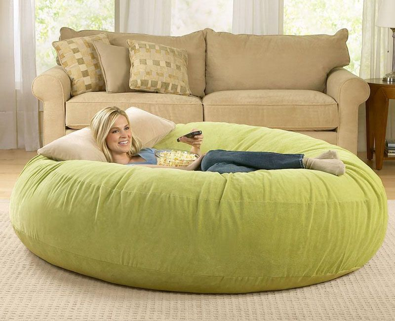 Chill Sack Massive 8 Foot Wide Bean Bag Chair Cool