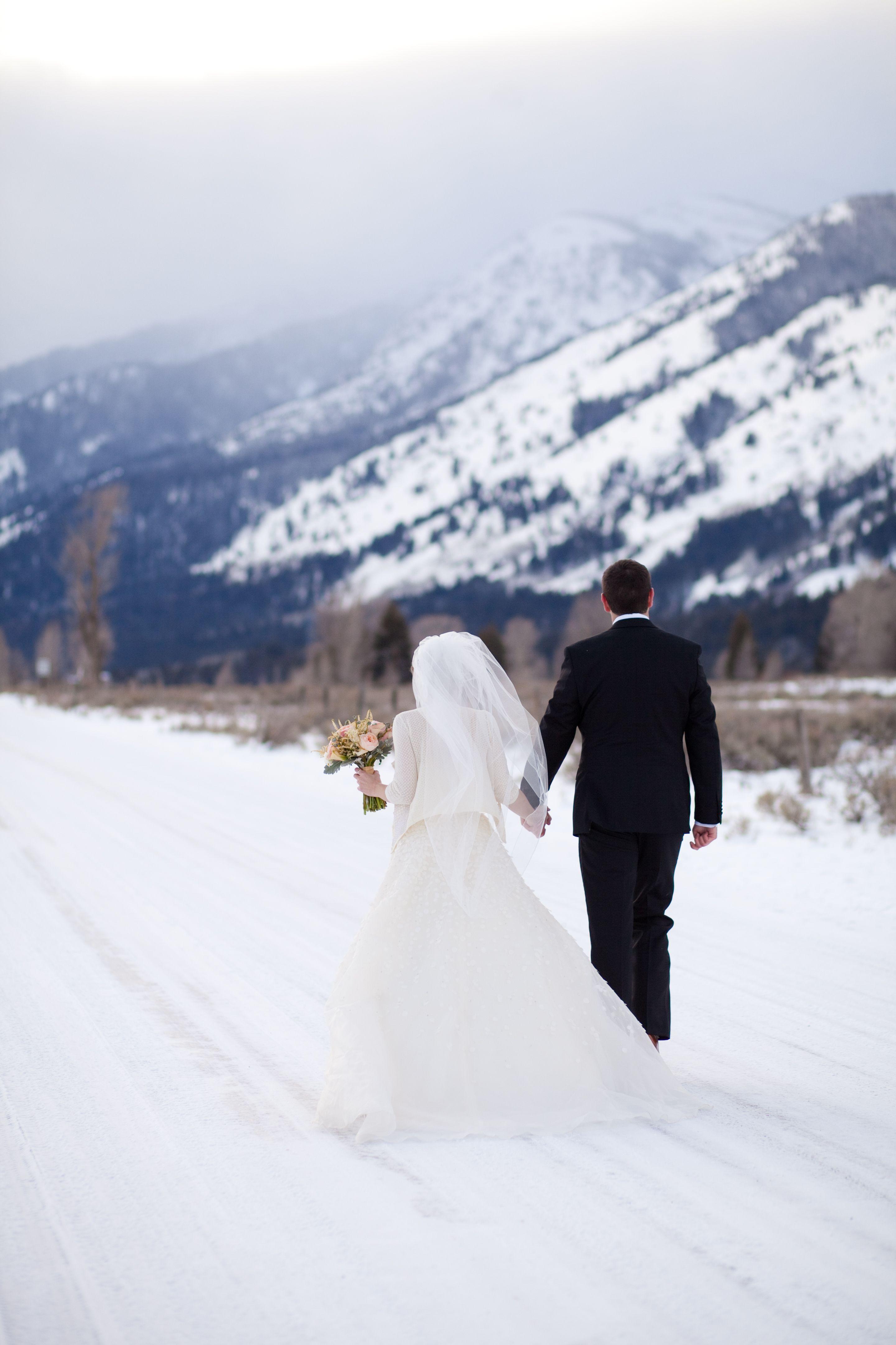 Winter Wedding Wonder At Dewey Seasons Resort Jackson Hole
