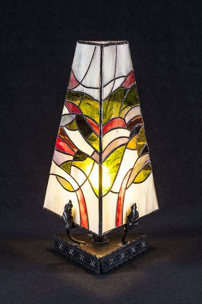 Lampka Stojaca Zielen Traw Szklo Witrazowe W Ni Finn Handmade Na Dawanda Com Stained Glass Lamps Glass Art Lamp
