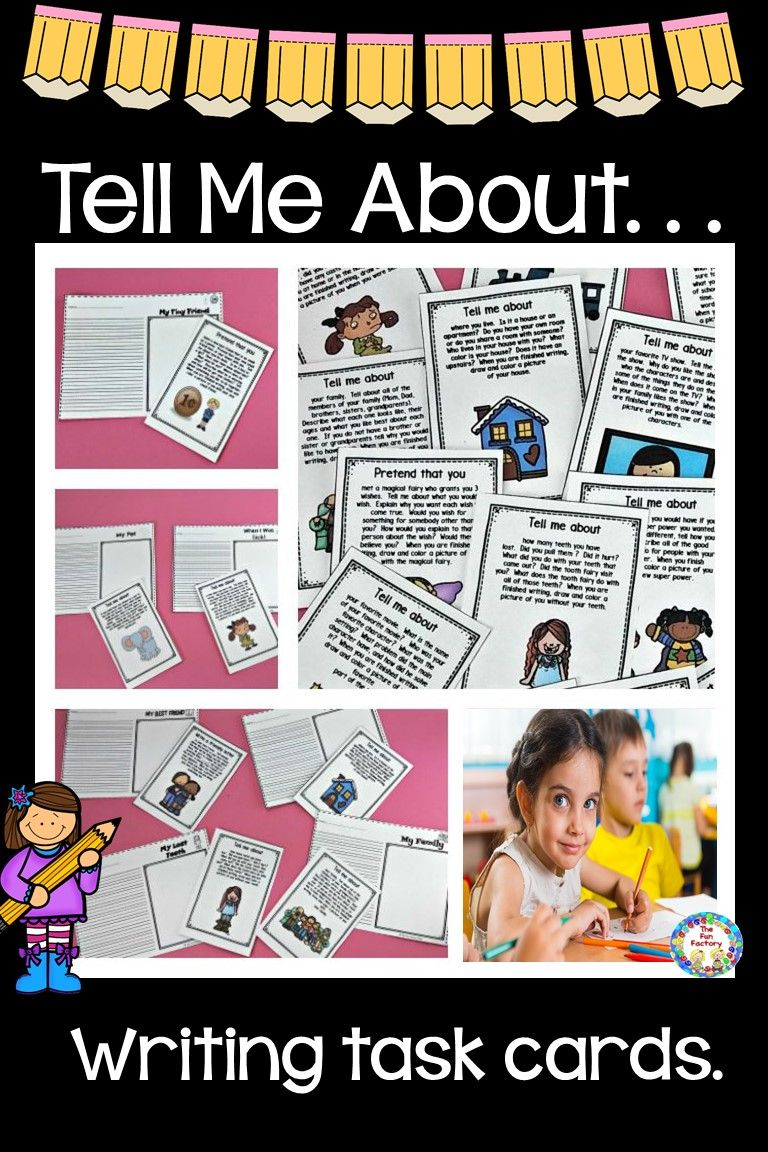 Writing Task Cards For Grades 1 and 2