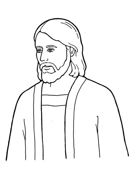 An Illustration Of Jesus Christ From The Nursery Manual Behold Your Little Ones 2008 Jesus Coloring Pages Lds Coloring Pages Jesus Pictures