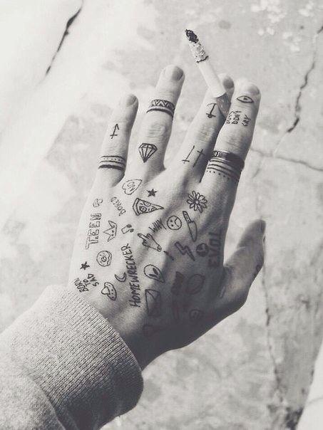 Small Tattoos Ideas Tumblr Tattoos Finger Tattoos Hand Tattoos