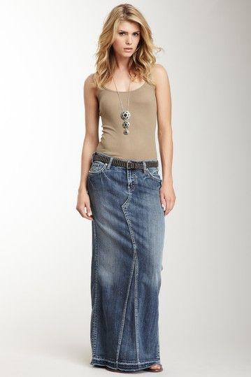 Long jean maxi dress