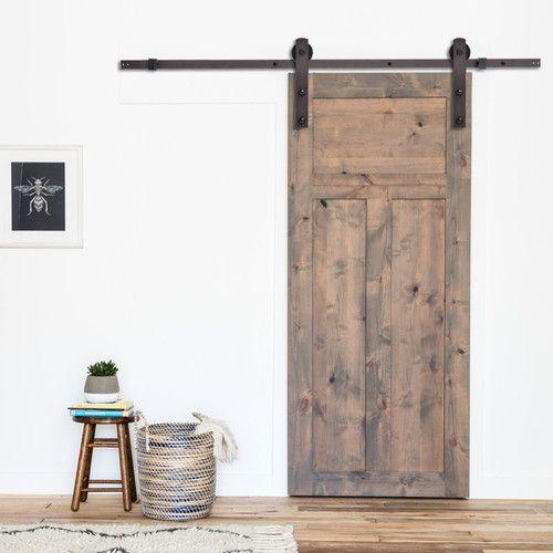Classic Straight Strap Sliding Standard Single Track Barn Door Hardware Kit Barn Style Sliding Doors Barn Doors Sliding Barn Door Designs