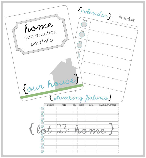 Home Construction Organizer Kit Create A House Construction Home Construction Building A House New Home Construction