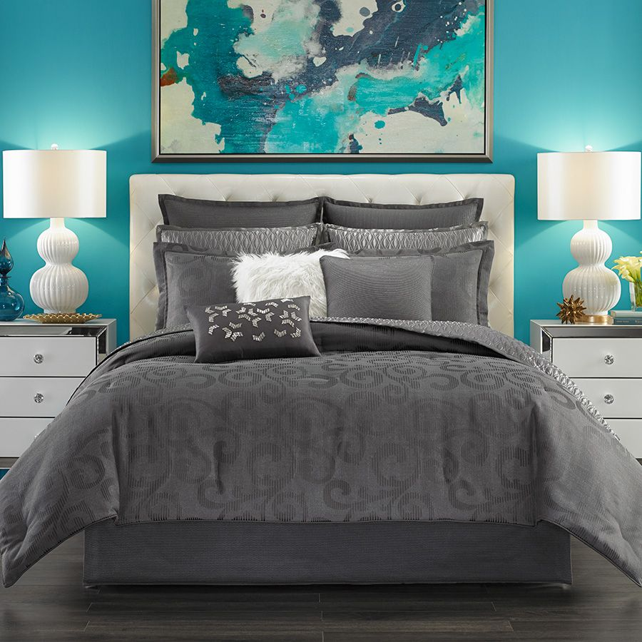 Candice Olson Arabesque Charcoal Comforter Set