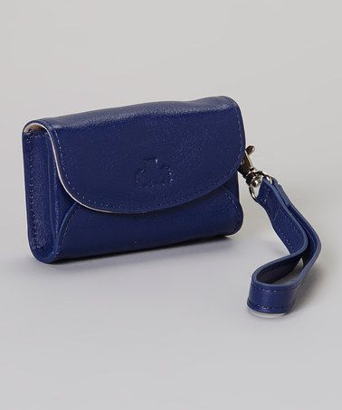 Take a look at this Navy Campbell Camera Wristlet by Rowallan on #zulily today!
