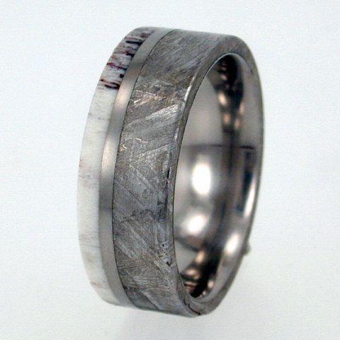 Meteorite Ring Antler Ring Gibeon Meteorite Deer By Jewelrybyjohan
