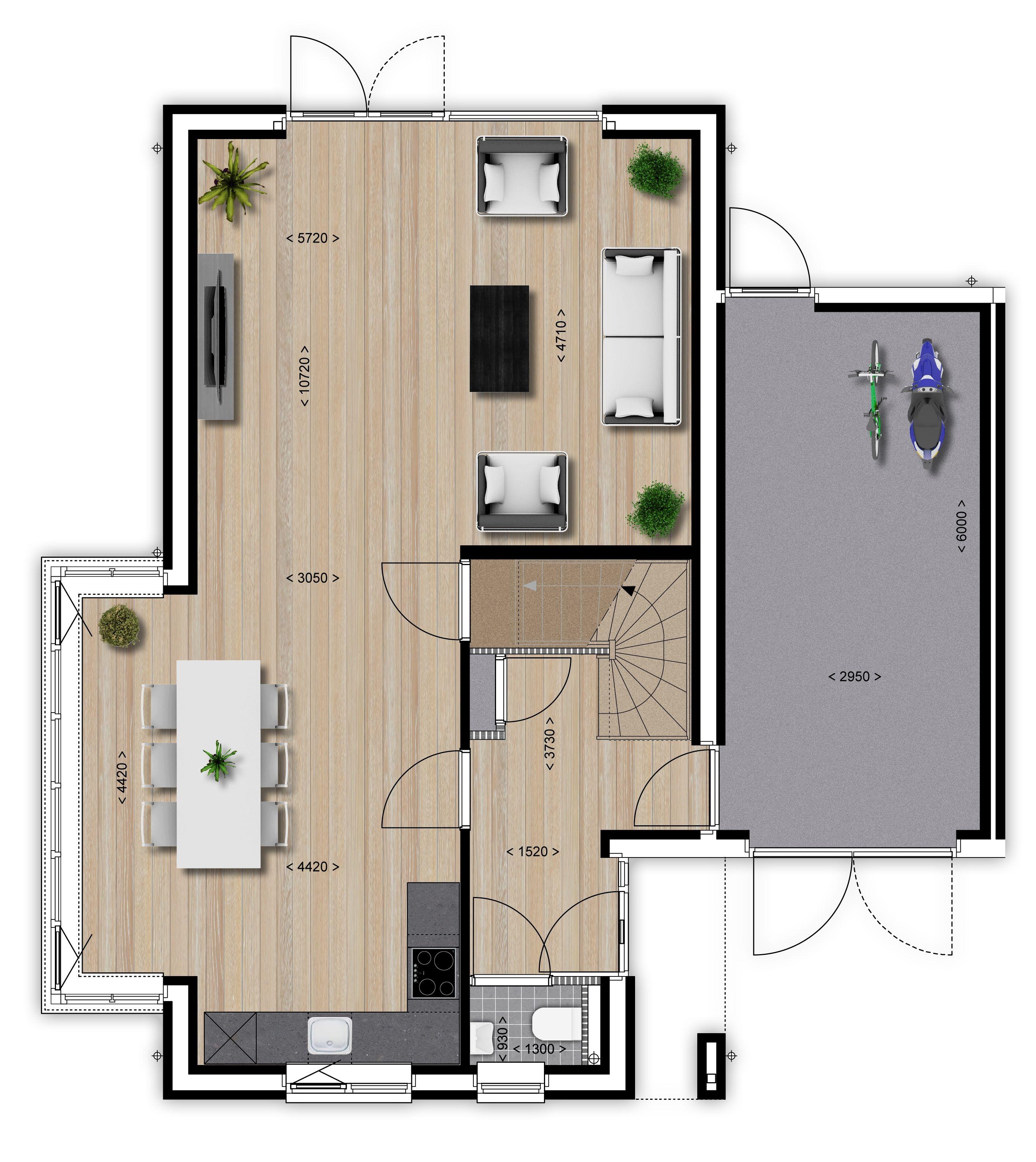 Plattegrond vrijstaande woning google zoeken for Woning indeling