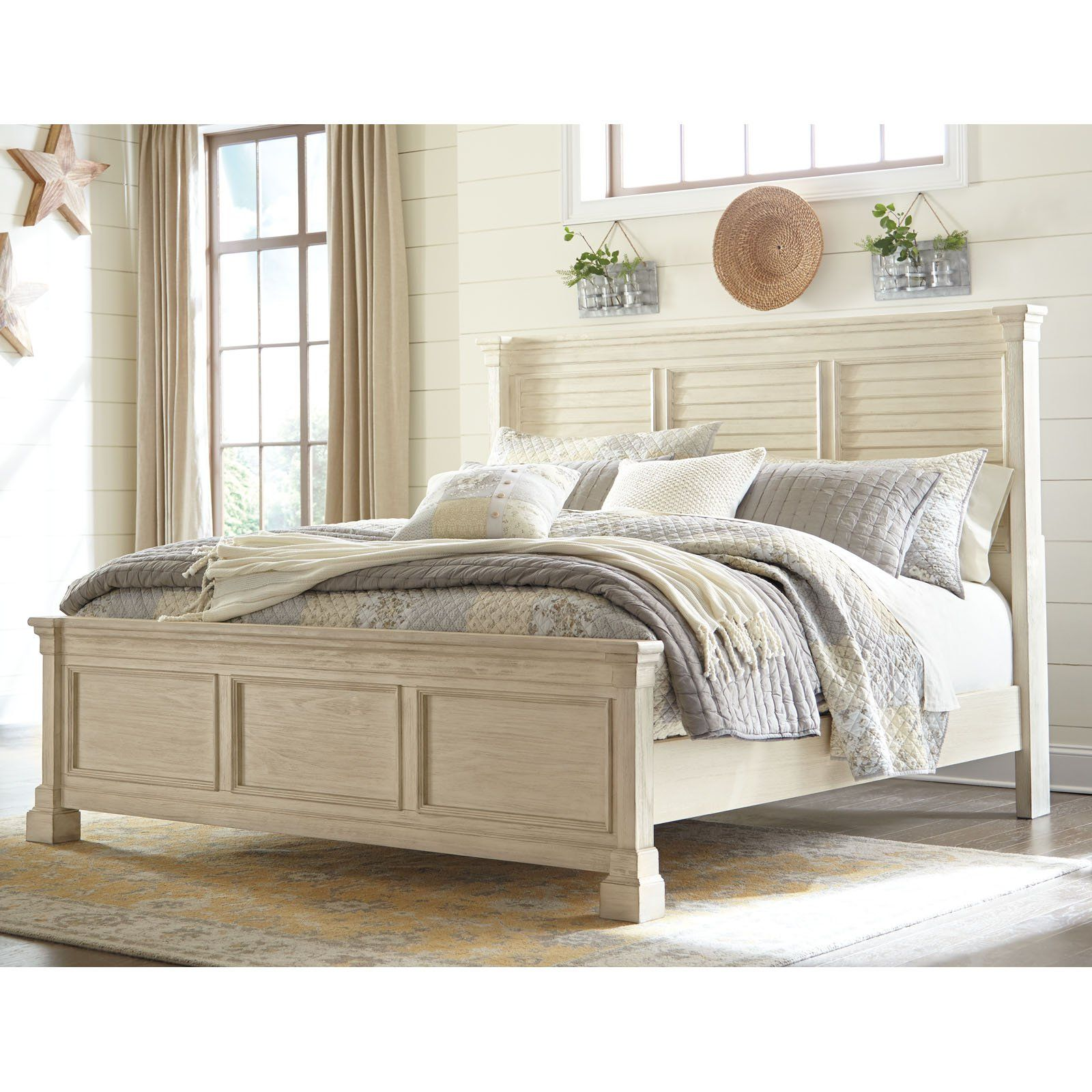 Best Signature Design By Ashley Bolanburg Louvered Panel Bed 640 x 480