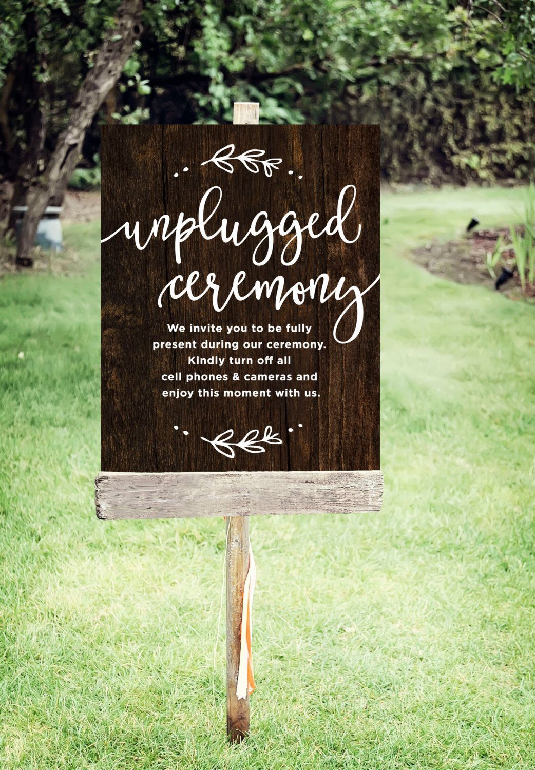 Unplugged Wedding Sign  Printable Unplugged Ceremony Sign | Etsy