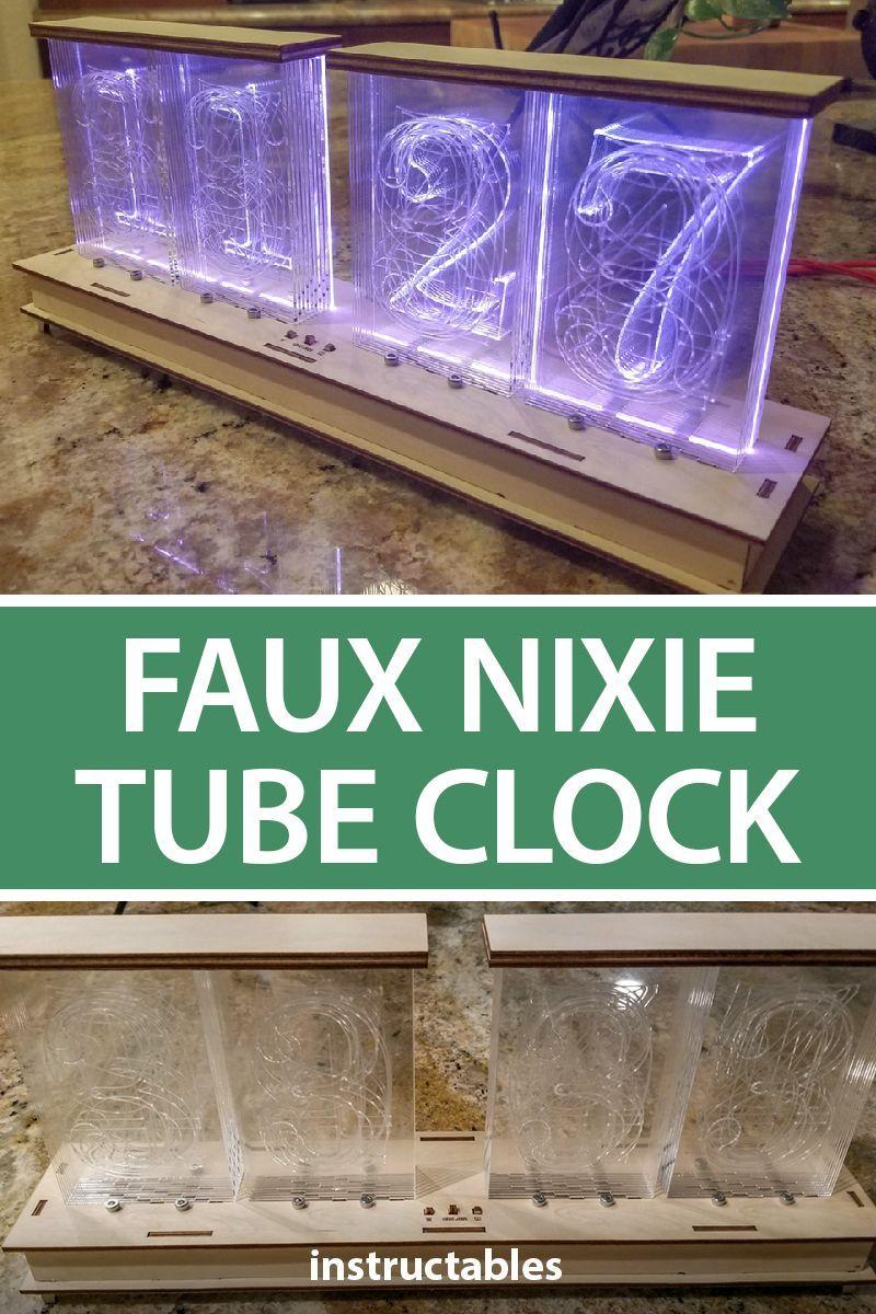 Faux Nixie Tube Clock | LEDs | Nixie tube, Clock, Led tubes