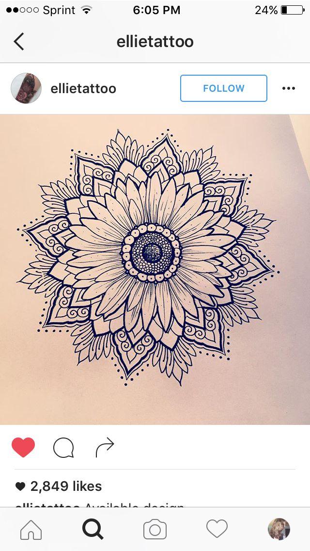 Love This Daisy Sunflower Mandala Tat Tat Tatted Up Tattoos