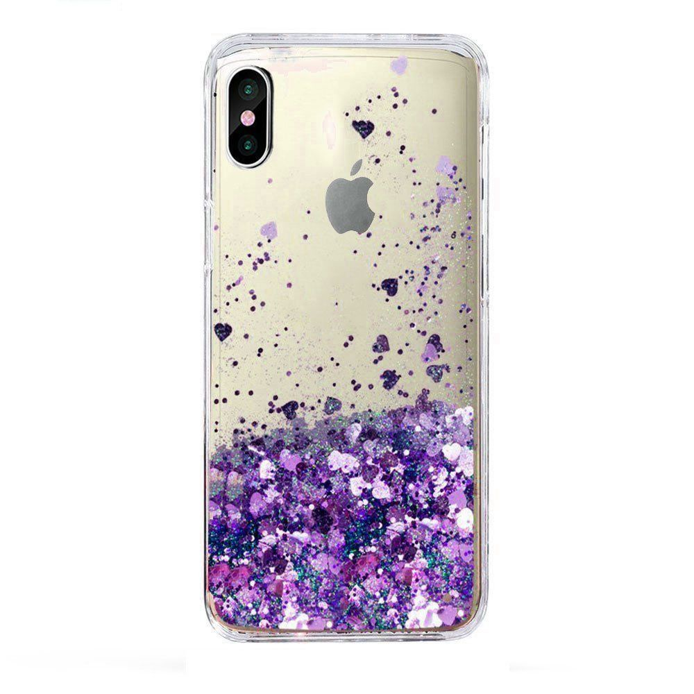 For Iphone X Case Liquid Glitter Sparkle Girl Women Cute Clear New Fassion Style Skmy Smartphone Case Case Iphone