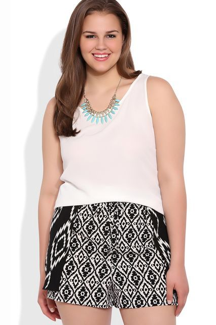 12 Pairs Of Shorts Worthy Of A Curvy Girl #refinery29  http://www.refinery29.com/plus-size-shorts#slide-5