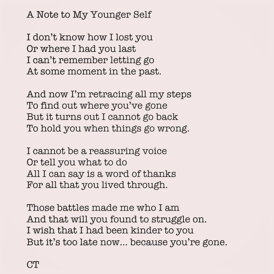 Camilla Thurlow On Instagram Not Sure Where This Poem Came From Maybe It S Because We Often Have To Look Back To Under Poems Camilla Thurlow How To Find Out