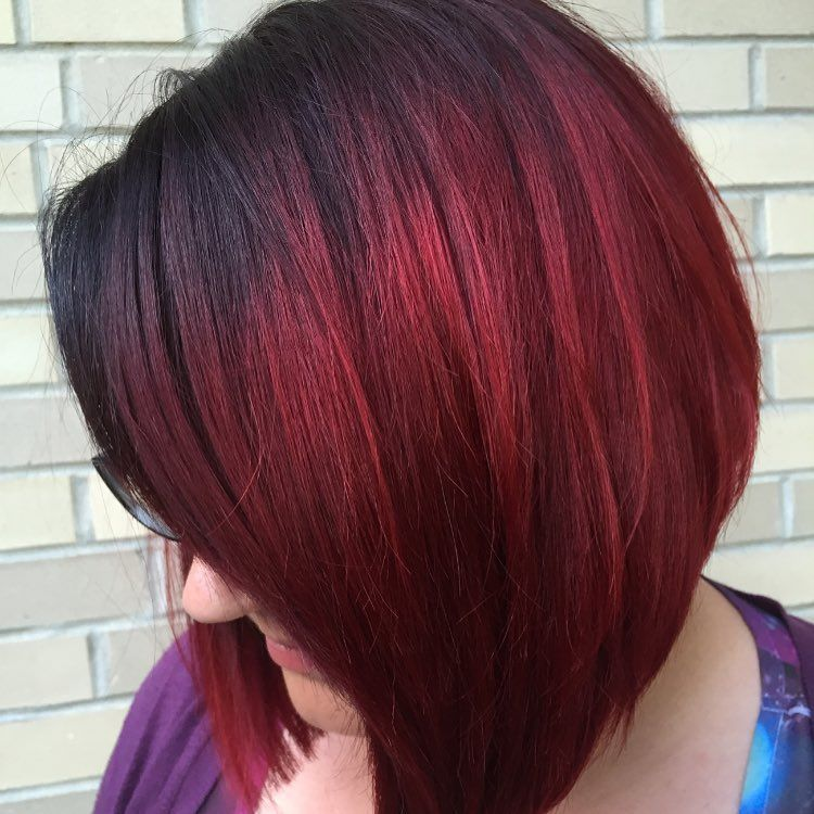 Burgundy Ombre Hair Color Style Nice Look For This Season Red