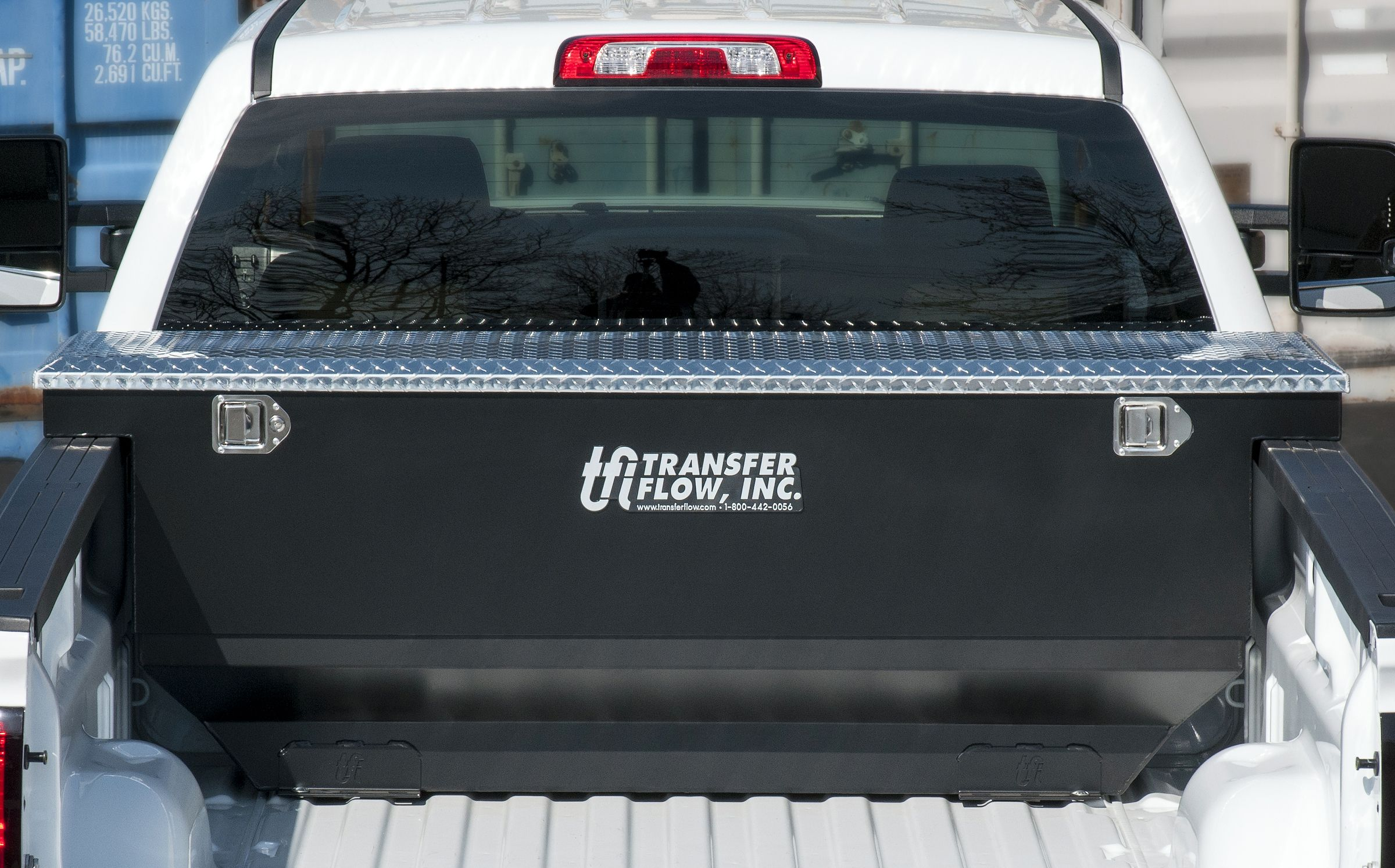 Transfer Flow S New 70 Gallon Toolbox And Fuel Tank Combo Has An Adjustable Storage Box To Custom Fit The Depth O Truck Bed Custom Truck Beds Pickup Trucks Bed