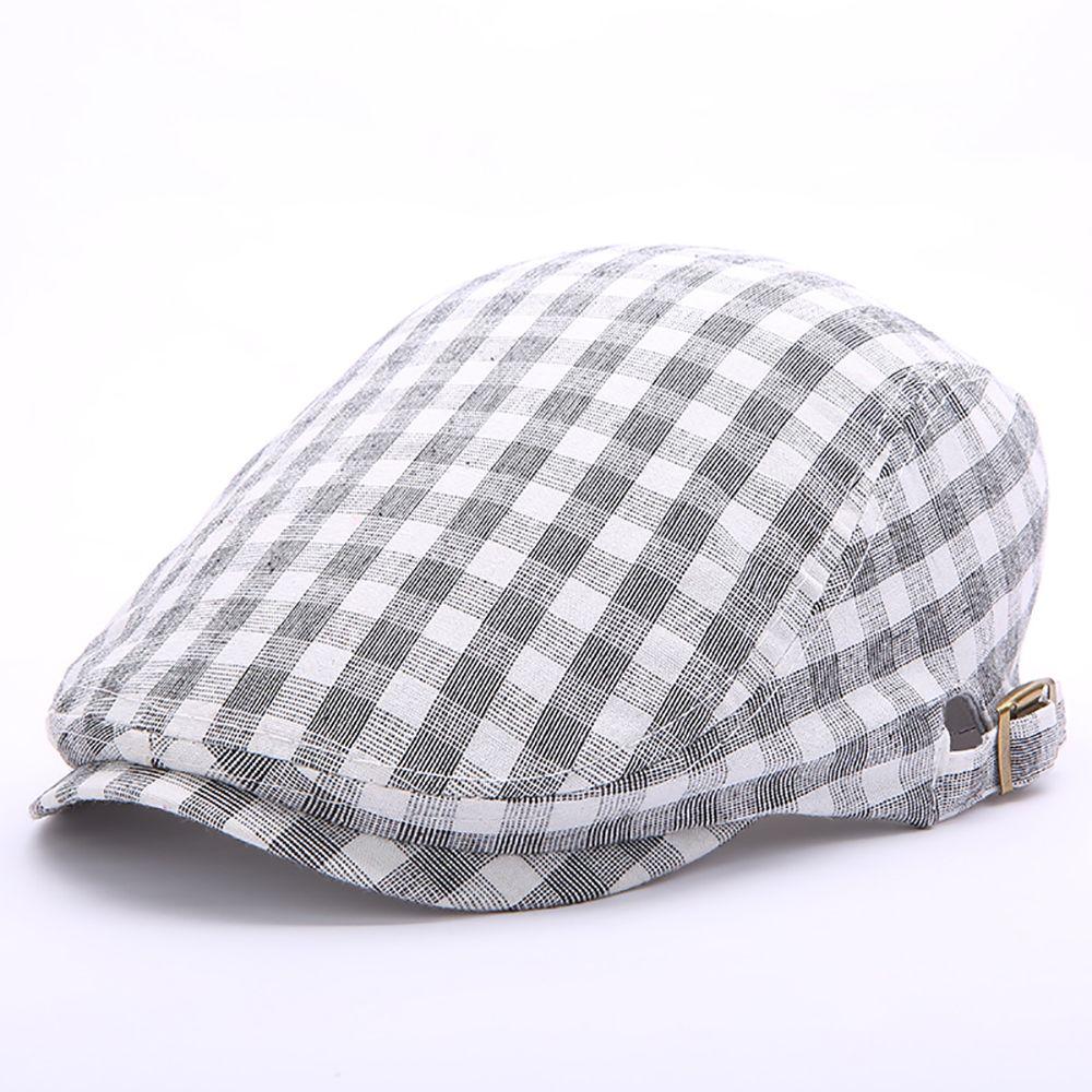91471a8040012  US 11.45  Men Women Summer Cotton Lattice Beret Hats  Women  Summer   Cotton  Lattice  Beret  Hats