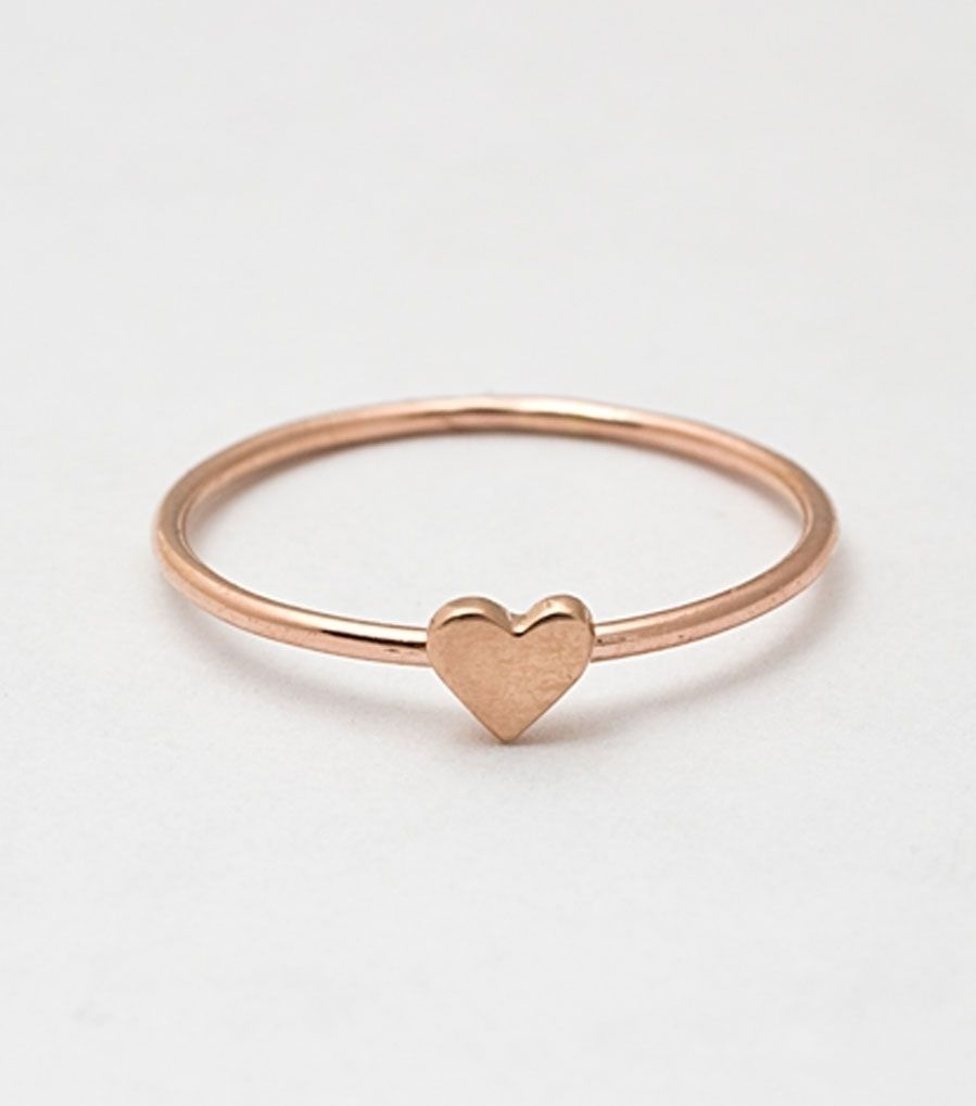 heart ring, rose gold   $88.00 neeeed more rose gold in my life