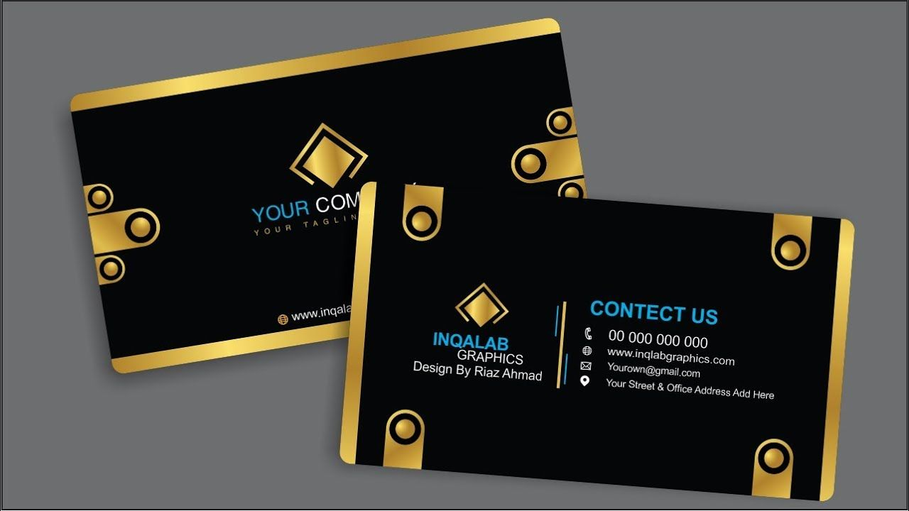 Coreldraw X7 Tutorial How To Make Your Own Business Cards In Urdu H Visiting Card Design Psd Free Business Card Templates Visiting Card Design